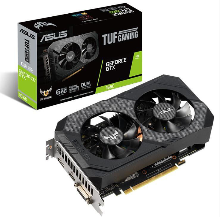 华硕 (ASUS) TUF-GTX1660-O6G-GAMING 电竞特工游戏专业显卡